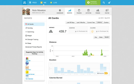 Like many fitness tracking applications, one of the most popular parts of Runkeeper is the ability to track your data