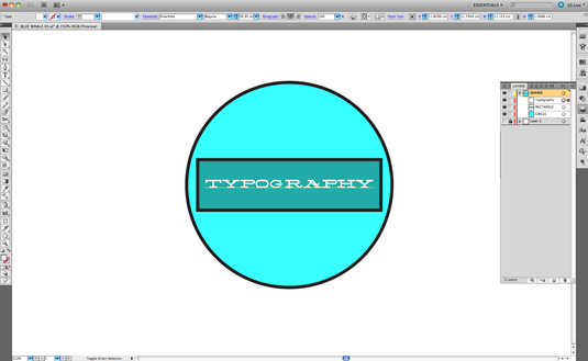 vector illustration: type options