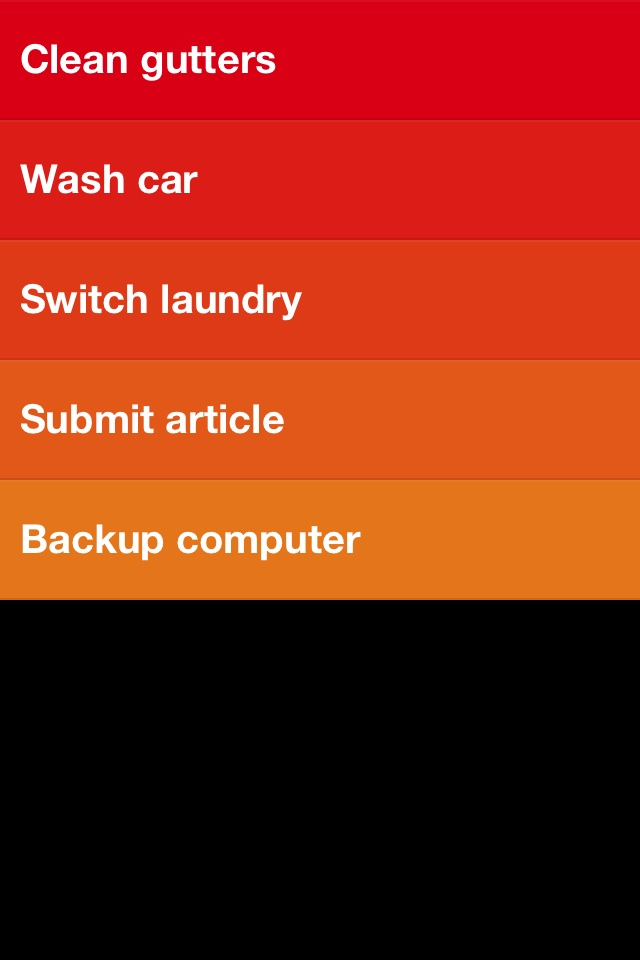 Clear for iOS is a to-do list app that has no chrome at all; it's pure content