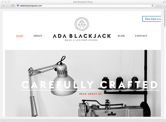 ecommerce website: Ada Blackjack