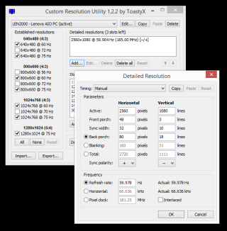 how to change refresh rate of monitor