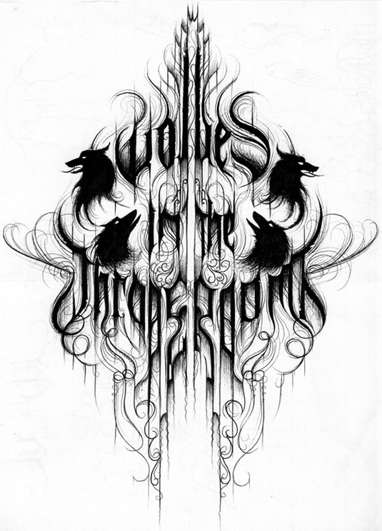 35 beautiful band logo designs - Wolves in the Throne