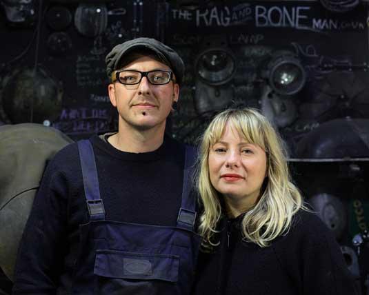 Paul Firbank and Lizzie Gossling