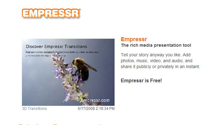 Animation tools: Empressr