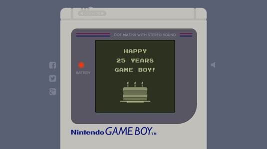 Example of parallax scrolling websites: Game Boy