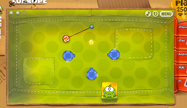 Best HTML5 games: Cut the Rope