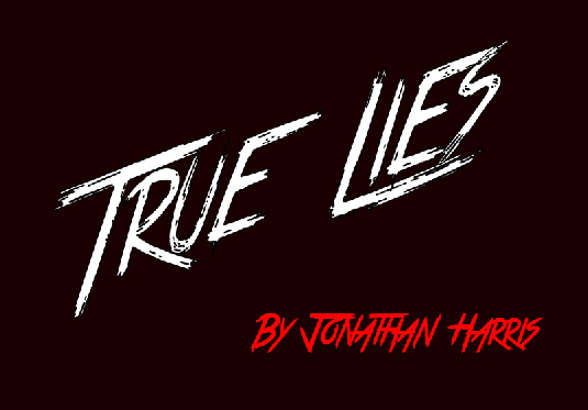 Free brush font: True Lies font