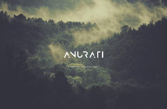Free font: Anurati