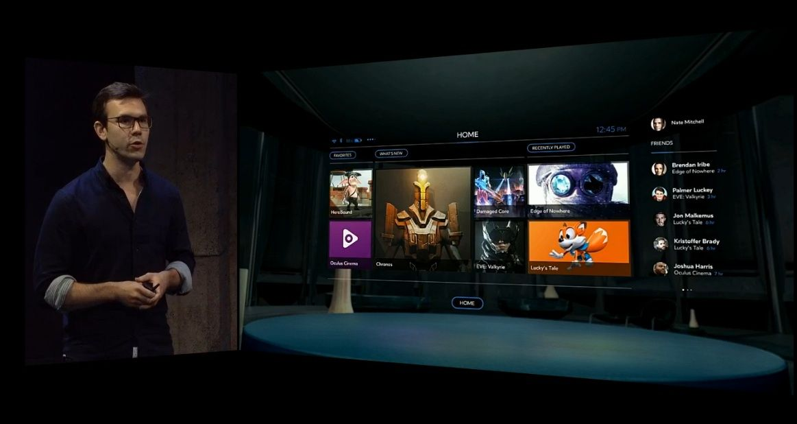Oculus home will let you buy games straight from the rift for Vr for home