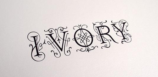 Ivory font