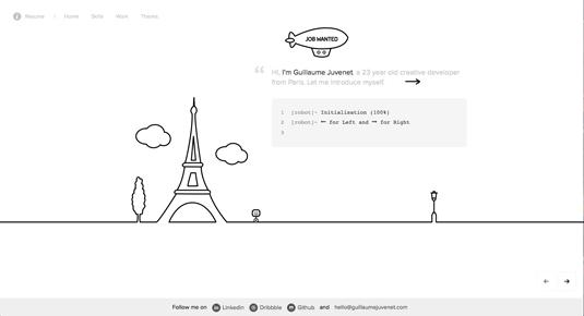 Web design portfolios - Guillaume Juvenet