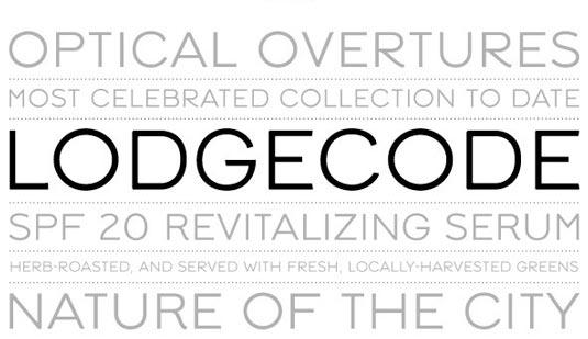 Lodgecode font