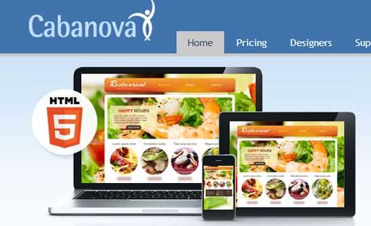 Website builder: Cabanova