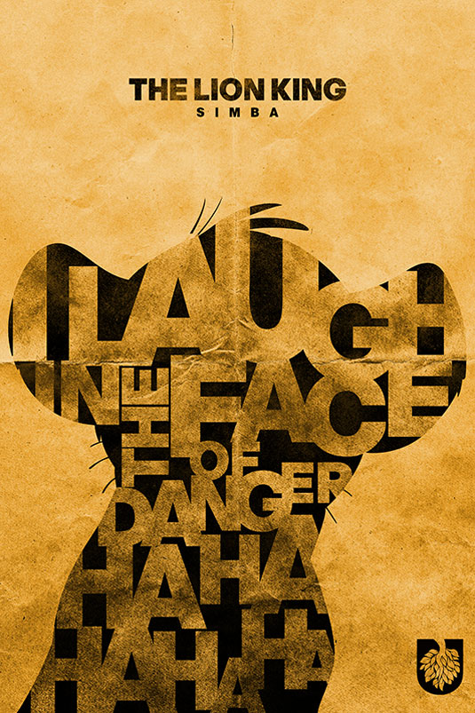 lion king typogrrraphy poster designs