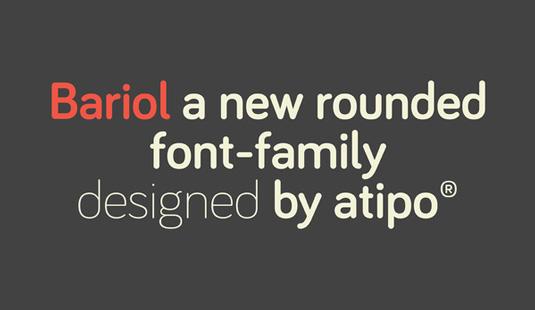 Free font: Bariol