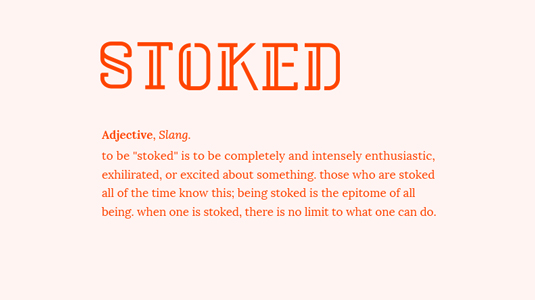 Free font: Stoked