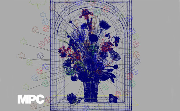 MPC bouquet animation for Rob and Nick Carter's Transforming Still Life