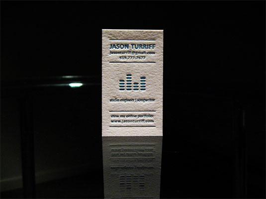 letterpress business cards: Jason Turiff