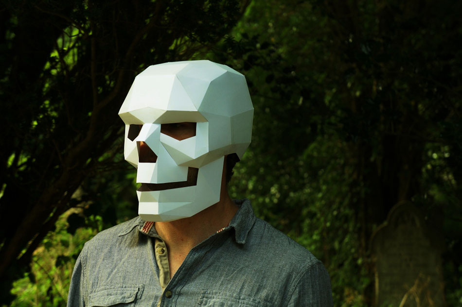 Geometric Halloween masks