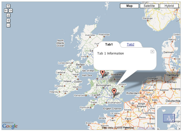 Google Maps API: Multiple bubbles