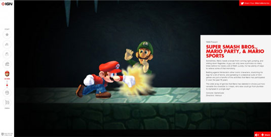 interactive website mario
