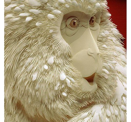 Calvin Nicholls Paper Art - baboon