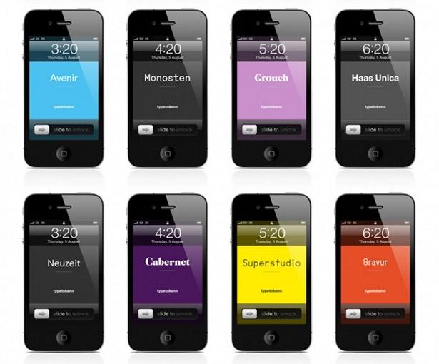 Typetoken - iPhone lock screens