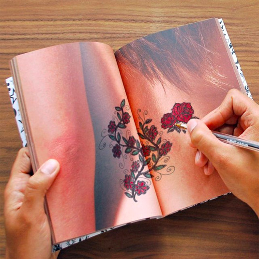 Tattoo art notebook