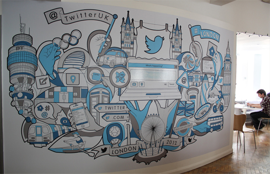 21 incredibly cool design office murals