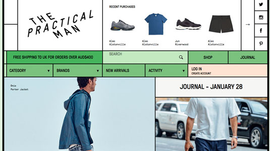 Ecommerce website designs: The Practical Man