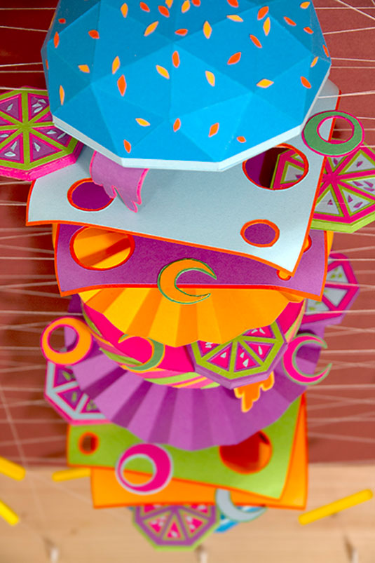 Exploded view paper art