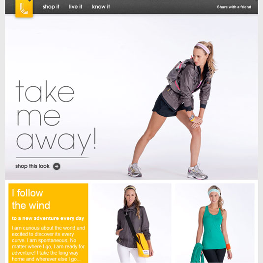 Email newsletter designs: Lole