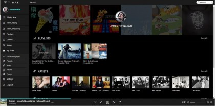 tidal music user page