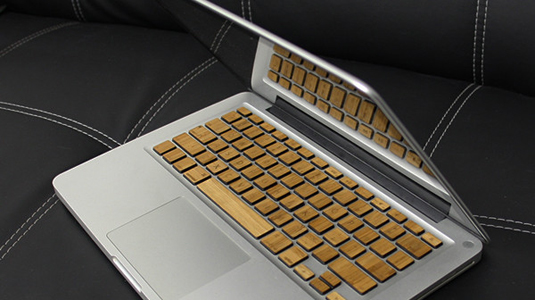 Wooden Macbook keyboard 2