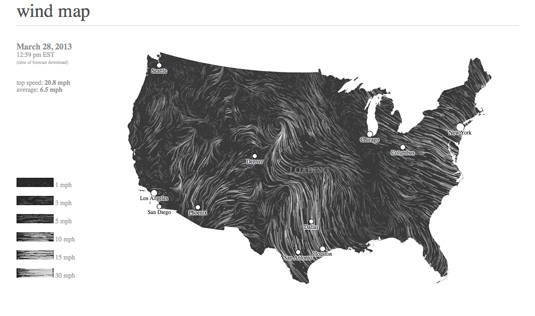 Best infographics: Wind map