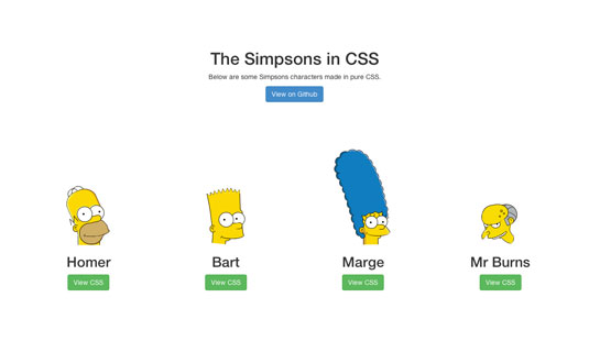 The Simpsons CSS