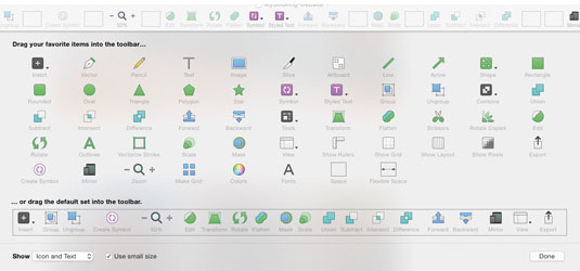 While Photoshop has a toolbar in view at all times, some of Sketch's tools are a bit tucked away at first