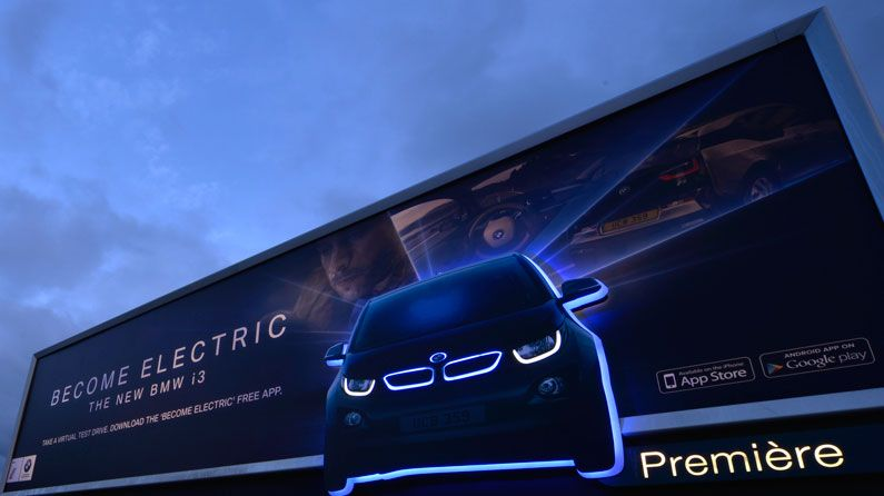 BMW Electric Car >> Glow-in-the-dark billboards shed light on new BMW | Creative Bloq