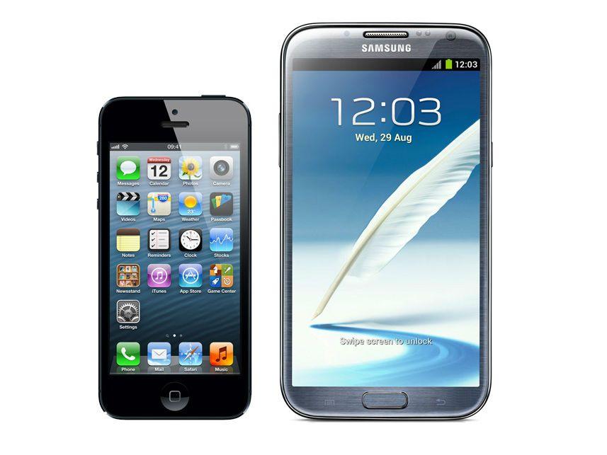iPhone 5 vs Samsung Galaxy Note 2: Smartphone specs ...
