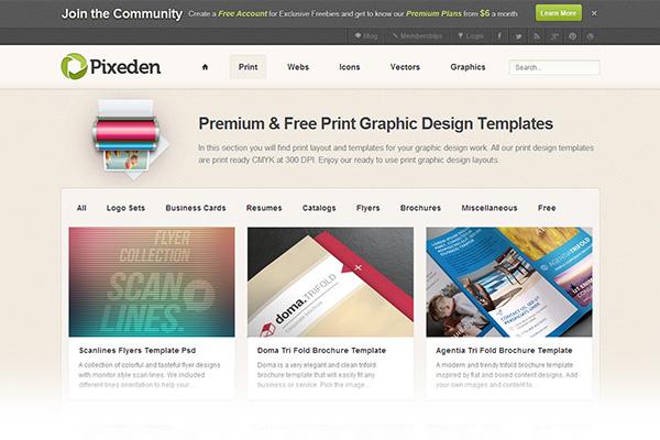Free print design templates Pixeden