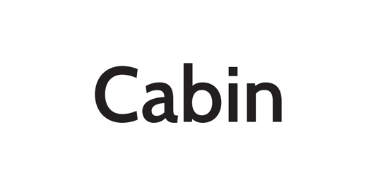 Free font: Cabin
