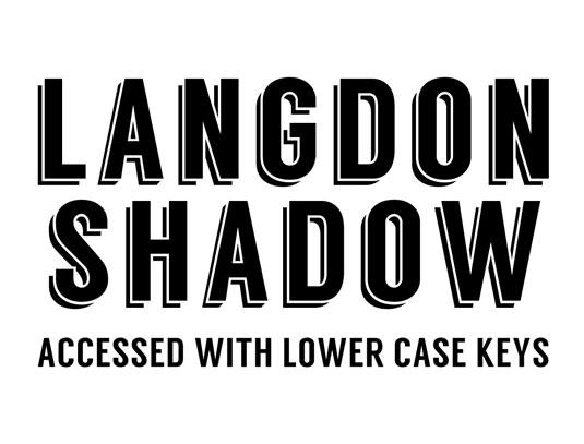 free font: langdon
