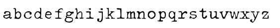 typewriter typefaces: EF Mono