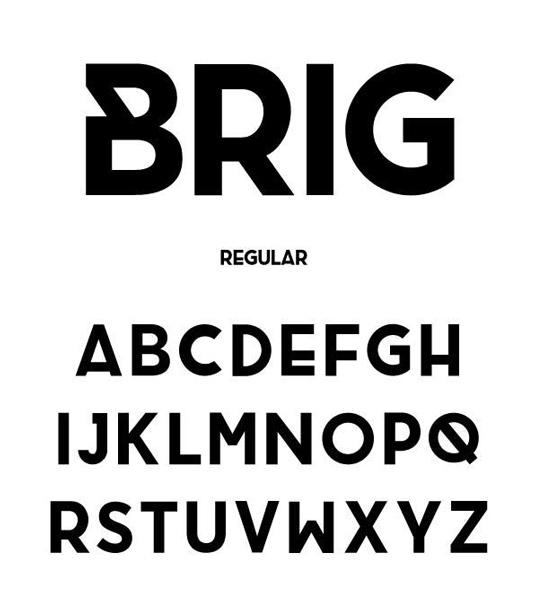 Free font: Brig