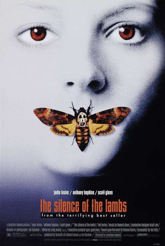 Movie posters: Silence of the Lambs
