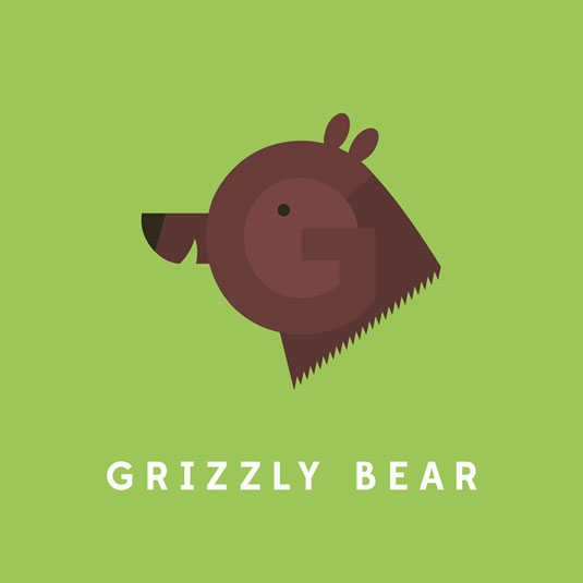grizzly bear typography