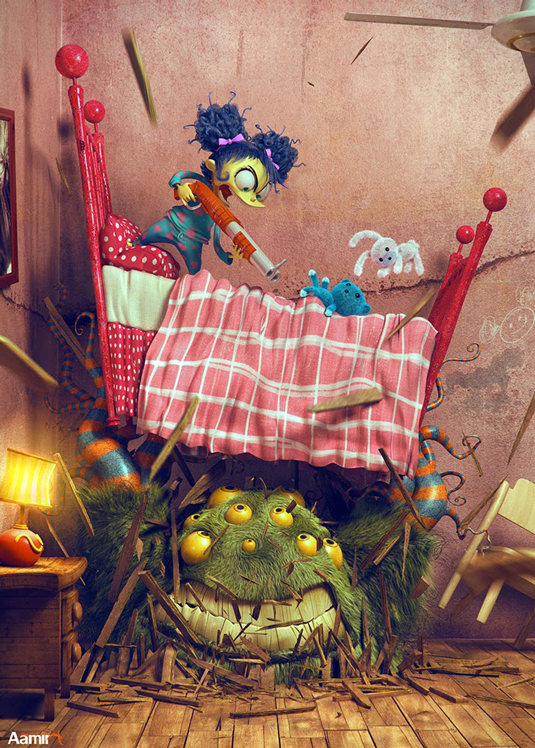 3D art: Bed Monster