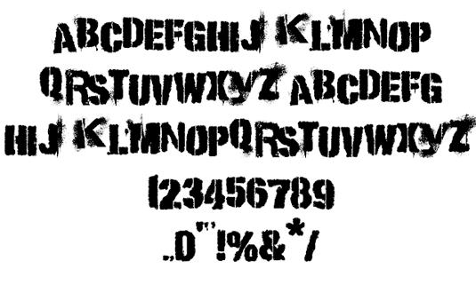 Free grunge fonts