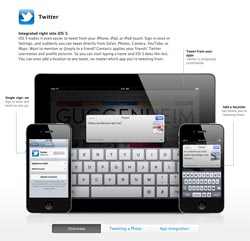iOS 5 Twitter tie-up