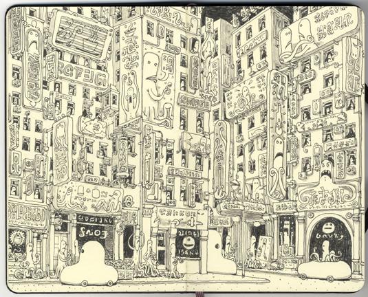 Dip into the sketchbook of Mattias Adolfsson